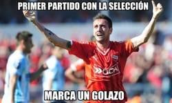 Enlace a Gran debut de Mancuello con Argentina