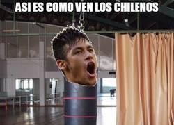 Enlace a Así ven los chilenos a Neymar