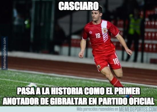493034 - Casciaro, primer goleador en la historia de Gibraltar