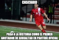 Enlace a Casciaro, primer goleador en la historia de Gibraltar