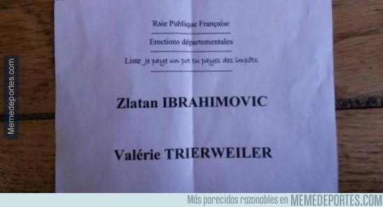 494137 - Zlatan Ibrahimovic tuvo ¡un voto! en las elecciones departamentales de Francia