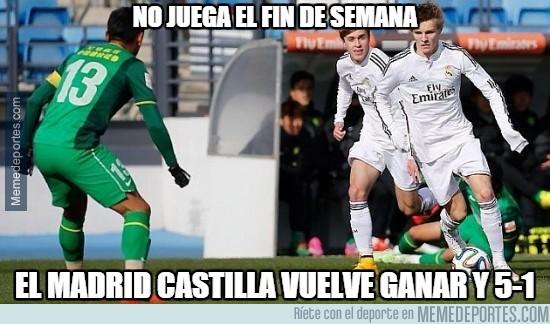 494485 - Odegaard no juega el fin de semana y el Castilla golea otra vez. ¿Casualidad?