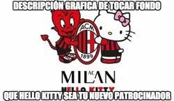 Enlace a El AC Milan y Hello Kitty. Descripción gráfica de tocar fondo