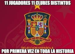 Enlace a España: 11 jugadores 11 clubes distintos