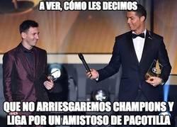Enlace a Messi y Cristiano más unidos que nunca en esto
