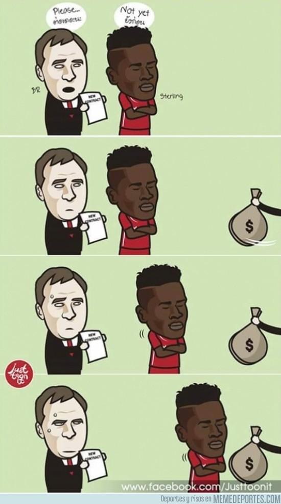 497272 - El motivo por el que Sterling rechaza la renovación del Liverpool