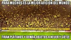 Enlace a Lamentable la afición del Borussia Dortmund