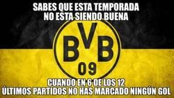 Enlace a Pobres números del Borussia Dortmund