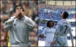 Enlace a Tras Morientes, 13 años después un jugador del Madrid vuelve a marcar 5 goles