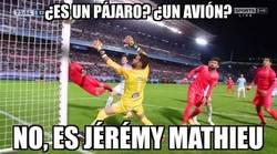 Enlace a Mathieu dándole los 3 puntos al Barça