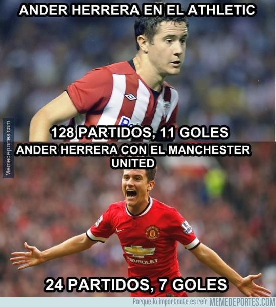 500553 - Increíbles estadísticas de Ander Herrera tras su llegada al United