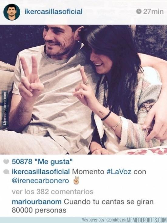 501390 - EPIC WIN de un comentario en el Instagram de Casillas