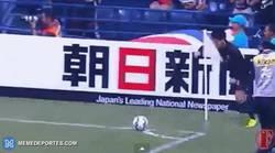 Enlace a GIF: Golazo olímpico en Asia con celebración made in Cristiano