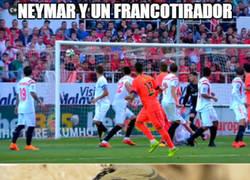 Enlace a Neymar y un francotirador