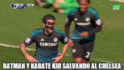 Enlace a Batman y Karate Kid salvando al Chelsea