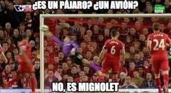 Enlace a Mignolet salvando al Liverpool