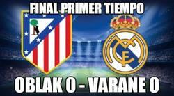 Enlace a Final primer tiempo Oblak 0 - Varane 0