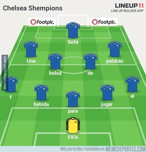 509588 - La alineación del Chelsea para la Shempions
