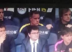 Enlace a GIF: Ter Stegen celebró la parada de Bravo a Parejo en el penalti