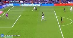 Enlace a GIF: Gol de Ronaldo, gran jugada de Chicharito