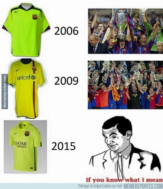 515258 - El Barça tiene un gran amuleto en sus camisetas fluorescentes
