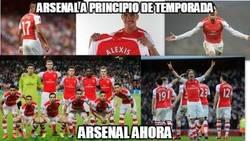 Enlace a Arsenal a principio y a final de temporada