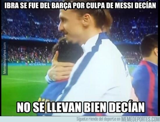517810 - Saludo entre Ibra y Messi