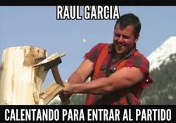 Enlace a El partido está muy tranquilo ¡Que caliente Raúl García!