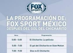 Enlace a La programación de TV en México después del gol de Chicharito en Champions