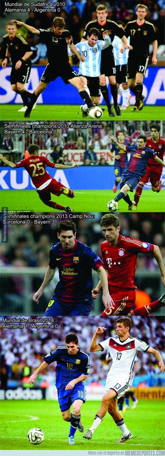 521463 - Messi nunca le ha ganado a Müller en un partido oficial