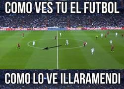 Enlace a Así ve una persona normal el fútbol y así lo ve Illarra