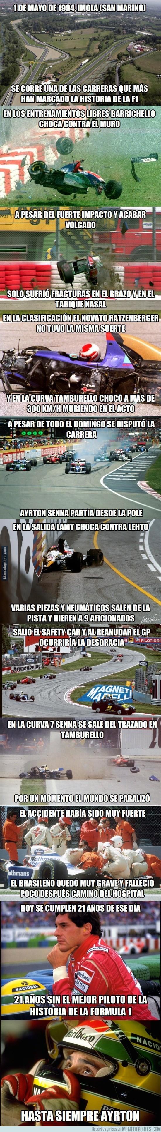 529379 - 21 años de la tragedia de Ayrton Senna