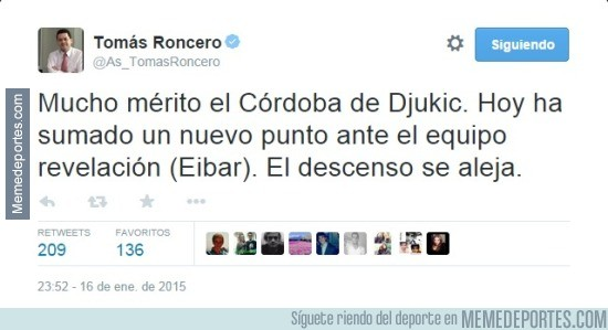 530511 - Momento exacto en el que el Córdoba se iba a Segunda