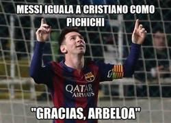 Enlace a Dedicatoria especial de Messi en su gol