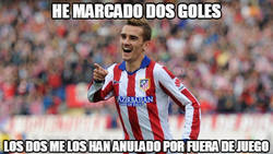 Enlace a Griezmann sigue on fire pese al árbitro. It's something...