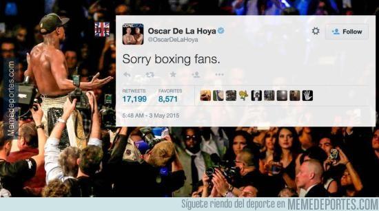 533112 - Sabes que el combate ha sido un fiasco cuando Oscar de la Hoya pide disculpas