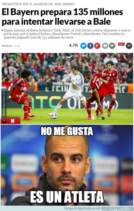 533663 - Guardiola no está contento al ver esta noticia