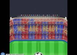 Enlace a GIF: Así será el mosaico del Camp Nou en el Barça-Bayern