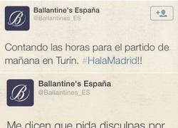 Enlace a Despedido el CM de Ballantines por posicionarse a favor del Madrid y ofender a los atléticos
