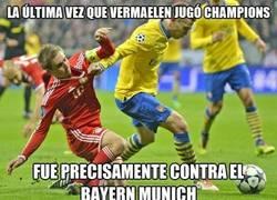 Enlace a Vermaelen no tiene buenos recuerdos contra el Bayern