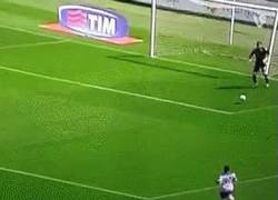 Enlace a GIF: Insólito autogol visto en la Serie A