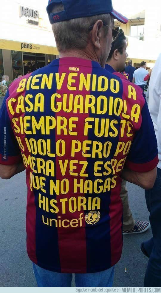 537030 - Así dan la bienvenida a Guardiola en el Camp Nou