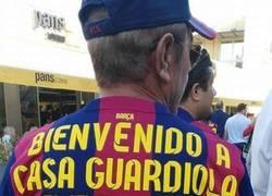 Enlace a Así dan la bienvenida a Guardiola en el Camp Nou