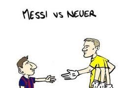 Enlace a Así están Messi y Neuer