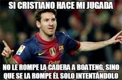 Enlace a Messi opinando sobre su jugada