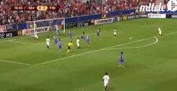 Enlace a GIF: Goool de Aleix Vidal. Gran jugada del Sevilla