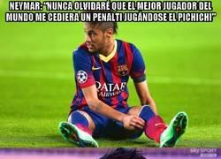 Enlace a Cristiano escuchando las palabras de Neymar