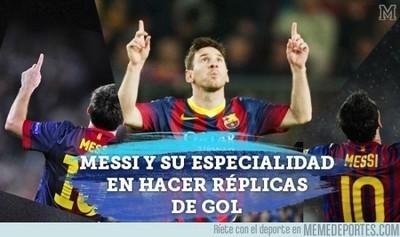 539935 - A Messi le gusta hacer réplicas de sus goles