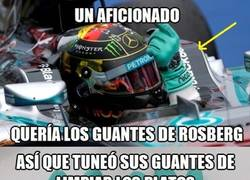 Enlace a Manera ingeniosa de conseguir los guantes de Nico Rosberg