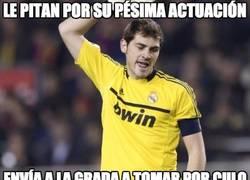 Enlace a Casillas enfurecido en el Bernabéu